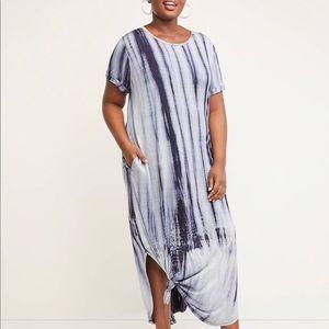 Lane Bryant Knot-Hem Midi Dress